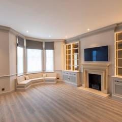 Three Storey Maisonette - Chelsea:  Living room by Prestige Architects By Marco Braghiroli, Classic