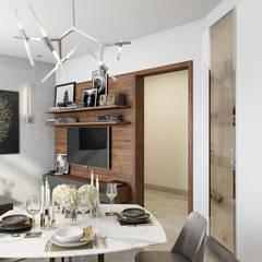 Фьюжн на Заозёрной: Кухни в . Автор – FISHEYE Architecture & Design