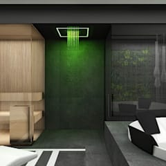 THE BRAINS OF THE OPERATION | II | Wnętrza domu: styl nowoczesne, w kategorii Spa zaprojektowany przez ARTDESIGN architektura wnętrz