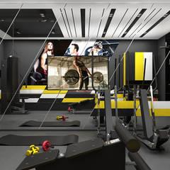 THE BRAINS OF THE OPERATION | II | Wnętrza domu Nowoczesna siłownia od ARTDESIGN architektura wnętrz Nowoczesny