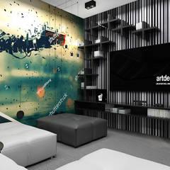 THE BRAINS OF THE OPERATION | II | Wnętrza domu: styl , w kategorii Pokój multimedialny zaprojektowany przez ARTDESIGN architektura wnętrz