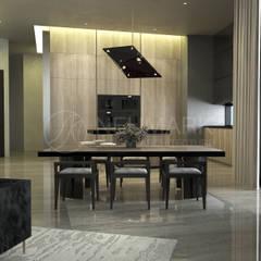 Porsche Tower Apartment.   Апартаменты в Porsche Design Tower.: Столовые комнаты в . Автор – NEUMARK
