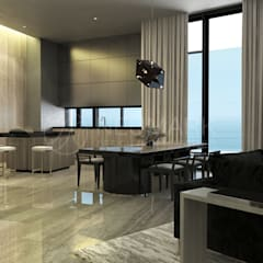 Porsche Tower Apartment.   Апартаменты в Porsche Design Tower.: Столовые комнаты в . Автор – Anton Neumark