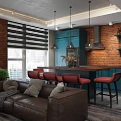 Лофт на Союзном проспекте: Кухонные блоки в . Автор – FISHEYE Architecture & Design,