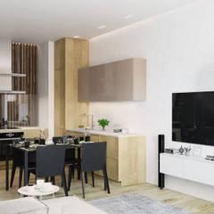 """Эко-минимализм на """"Смольном Проспекте"""": Кухонные блоки в . Автор – FISHEYE Architecture & Design"""