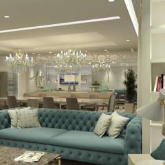 PROJETO DE DECORAÇÃO DE INTERIORES - LIVING CONTEMPORÂNEO E SOFISTICADO Salas de estar clássicas por Glim - Design de Interiores Clássico