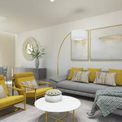 ห้องนั่งเล่น โดย Glim - Design de Interiores, โมเดิร์น