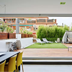Terraza: Jardines delanteros de estilo  de JSV-Architecture
