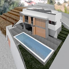 Casa en Nerja: Piscinas de jardín de estilo  de JoseJiliberto Estudio de Arquitectura