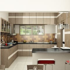 Kitchen interior:  Kitchen units by Master Thought