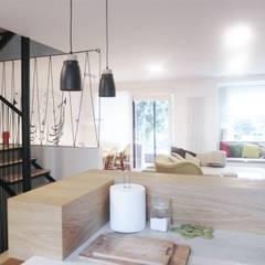 a&m: styl , w kategorii Salon zaprojektowany przez NaNovo