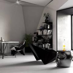 Полигонально-парящее зонирование.: Рабочие кабинеты в . Автор – SLASTNIKOV