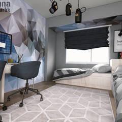 Ravenna Mimarlık Restorasyon – Genç Odası Tasarımı :  tarz Erkek çocuk yatak odası