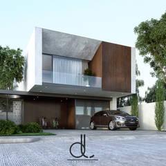 CASA L-01: Casas de estilo  por LD ARQUITECTOS, Moderno Concreto