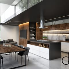 Kitchen by LD ARQUITECTOS, Minimalist Marble