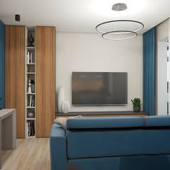 Квартира ЖК Арбатский 87 м2: Гостиная в . Автор – Дизайн Студия 33