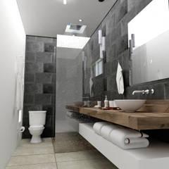 Baño casa habitacion : Baños de estilo  por Osuna Arquitecto