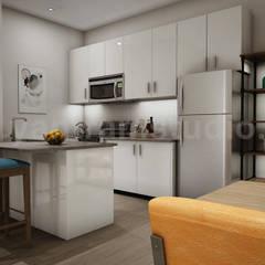 Architectural Walkthrough Interior Kitchen Services:  Built-in kitchens by Yantram Architectural Design Studio