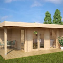 كوخ تنفيذ Summerhouse24, حداثي خشب Wood effect