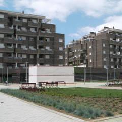 Diseño y construcción de un edificio residencial en Granada: Casas multifamiliares de estilo  de dcr arquitecto