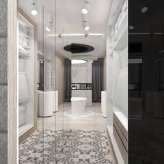 ARTDESIGN PERFORMANCE | Projekt sypialni z garderobą i pokojem kąpielowym: styl , w kategorii Garderoba zaprojektowany przez ARTDESIGN architektura wnętrz