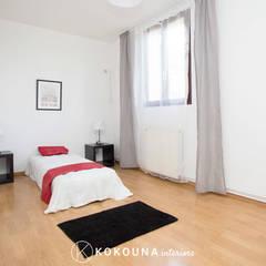 Home staging Chambre: Couloir et hall d'entrée de style  par KOKOUNA