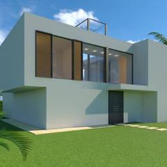 Diseño del proyecto de una casa unifamiliar en Granada : Casas unifamilares de estilo  de dcr arquitecto