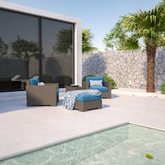 Piscinas de jardín de estilo  por Santoro Design Render