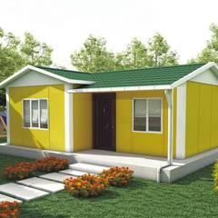 Modern Prefabrik – 40 metrekare prefabrik ev fiyatları: akdeniz tarzı tarz Bahçe
