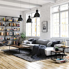 Living room by Steven Romsits - 3D Visualisierung