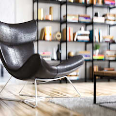 Industrial Wohnzimmer:  Wohnzimmer von Steven Romsits - 3D Visualisierung