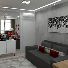 Sala TV: Adegas modernas por Bruna Ferraresi