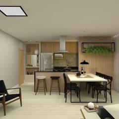 Apartamento : Armários e bancadas de cozinha  por Bruna Ferraresi