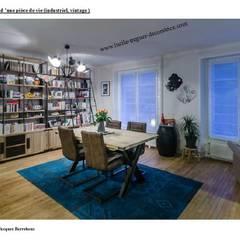 Décoration et agencement d'une pièce de vie.  Style indutriel.: Salon de style  par  Lucile Tréguer, décoratrice d'intérieur