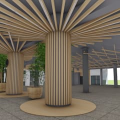 Detalle de Interiorismo Cafeteria Central: Restaurantes de estilo  por Designo Arquitectos