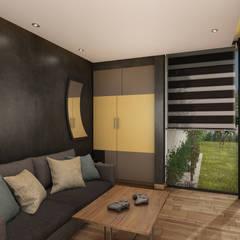 Sala de TV: Salas multimedia de estilo moderno por Escaleno Taller de Diseño