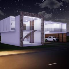CASA CAMPESTRE : Casas de estilo minimalista por CONSTRUCCIONES DISEÑARTE