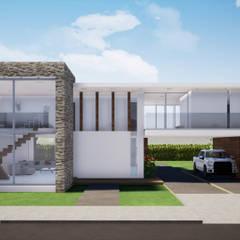 fachada : Casas de estilo minimalista por CONSTRUCCIONES DISEÑARTE