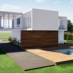 CASA CAMPESTRE : Jardines de estilo  por CONSTRUCCIONES DISEÑARTE