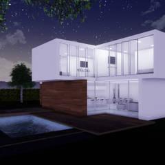 CASA CAMPESTRE : Jardines de estilo minimalista por CONSTRUCCIONES DISEÑARTE