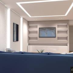 Квартира г. Зеленоградск: Гостиная в . Автор – Дизайнер интерьера Мария Хорошилова