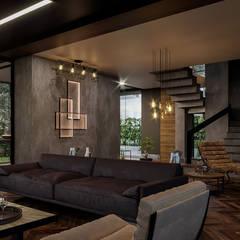 VERO CONCEPT MİMARLIK – Statü Urla Villa:  tarz Oturma Odası