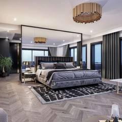 VERO CONCEPT MİMARLIK – Kalafatoglu Marina Residence:  tarz Yatak Odası
