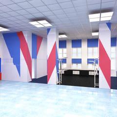 Estadios de estilo minimalista de Дизайн - студия Александры Усольцевой Minimalista