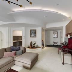 modern Living room by 直方設計有限公司