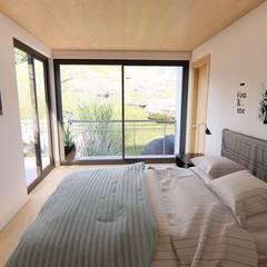 Habitación principal: Dormitorios de estilo  por Ekeko arquitectura  - Coquimbo
