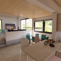 espacio interior : Comedores de estilo  por Ekeko arquitectura