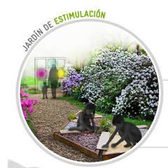 Jardín de Estimulación- Jardines Terapéuticos: Jardines delanteros de estilo  de Simbiotia