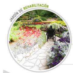 Jardines en la fachada de estilo  por Simbiotia