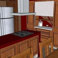 RESTAURACIÓN CASA ESTILO FRANCÉS: Cocinas de estilo  por lucia bernal arbuatti diseño interior